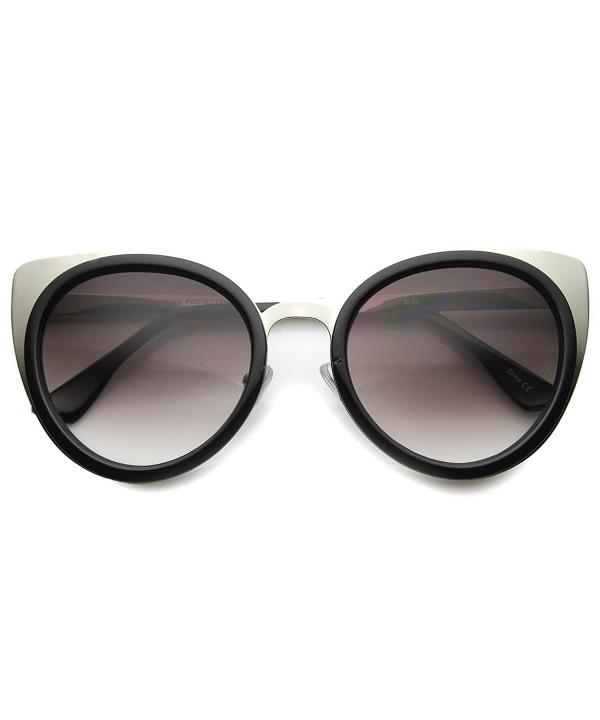 zeroUV Elegant Sunglasses Black Silver Lavender