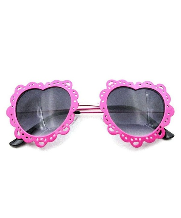 Flowertree Womens Perforated Scalloped Sunglasses