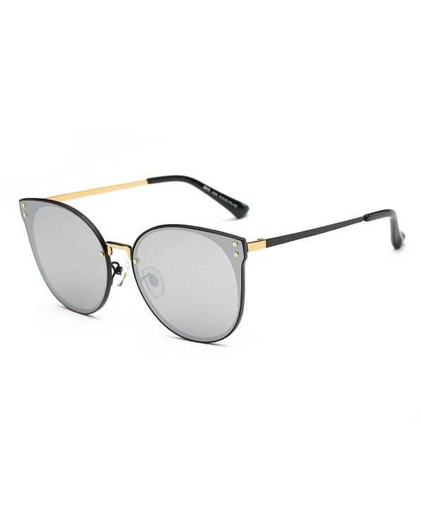 DONNA Oversized Mirrored Sunglasses Hipster