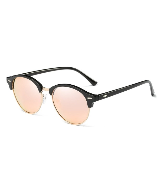 AZORB Polarized Clubmaster Sunglasses Semi Rimless