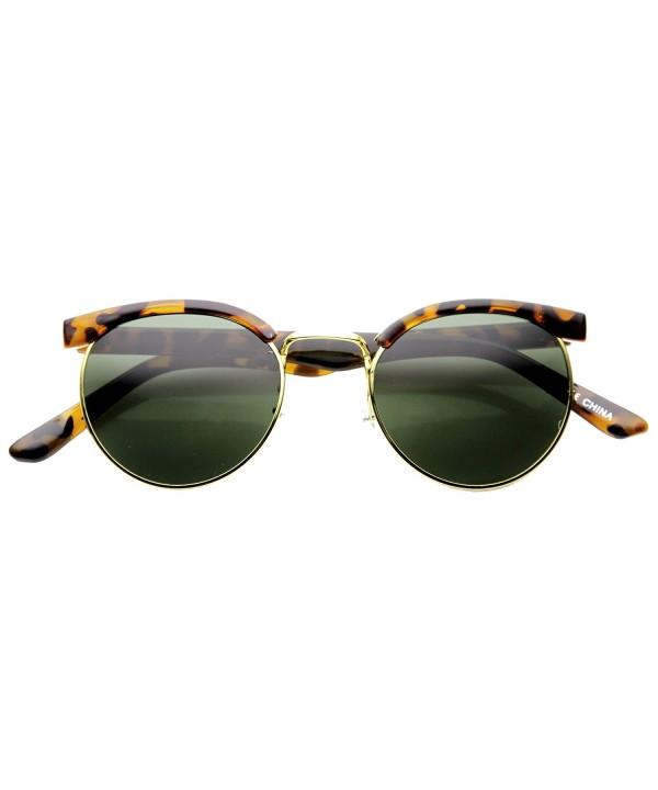 zeroUV Fashion Circle Sunglasses Tortoise