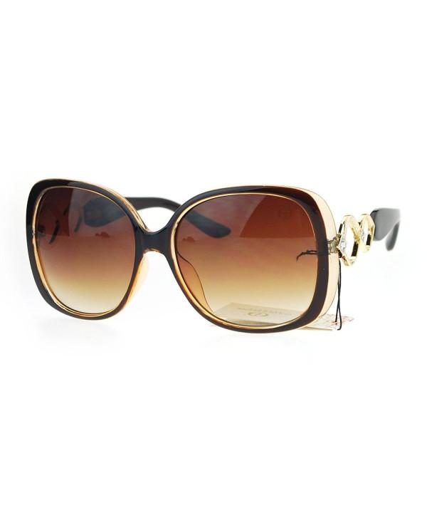 SA106 Oversized Rhinestone Butterfly Sunglasses