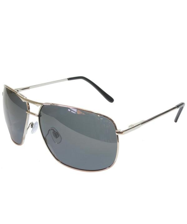 Polarized Square Aviator Sunglasses Silver