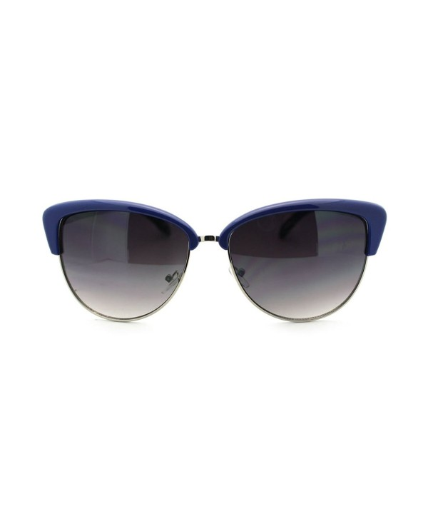 Womens Bolded Brow Clubmaster Sunglasses