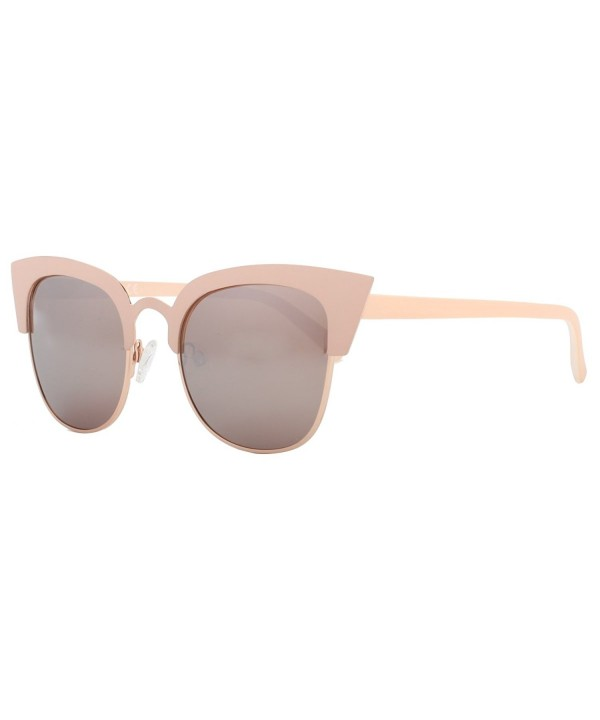 Pointed Semi Rimless Sunglasses Polarized 86594A