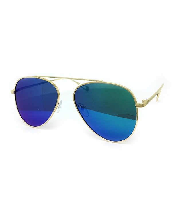 O2 Oversized Mirrored Sunglass TURQUOISE