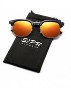 SIPU Polarized Semi rimless Sunglasses Women