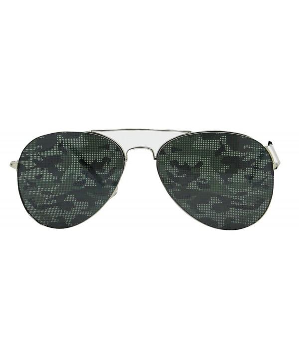 Camouflage Aviator Orange Sunglasses American