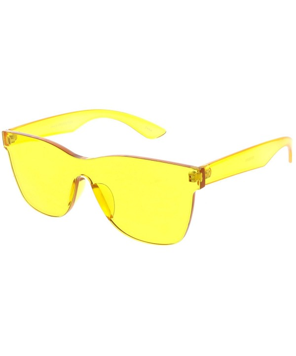 sunglassLA Rimless Rimmed Sunglasses Colorful
