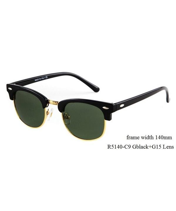 Flowertree Rs5141 Browline Sunglasses M black
