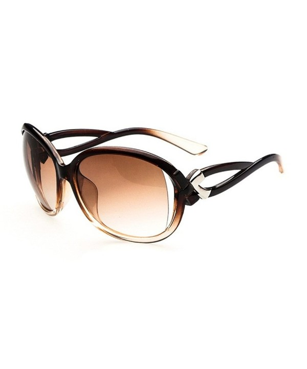 Flowertree Plastic Gradient Oversized Sunglasses