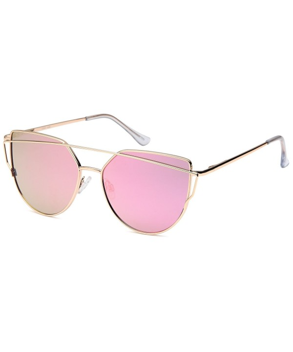 QINKY Womens Aviator Sunglasses Mirror