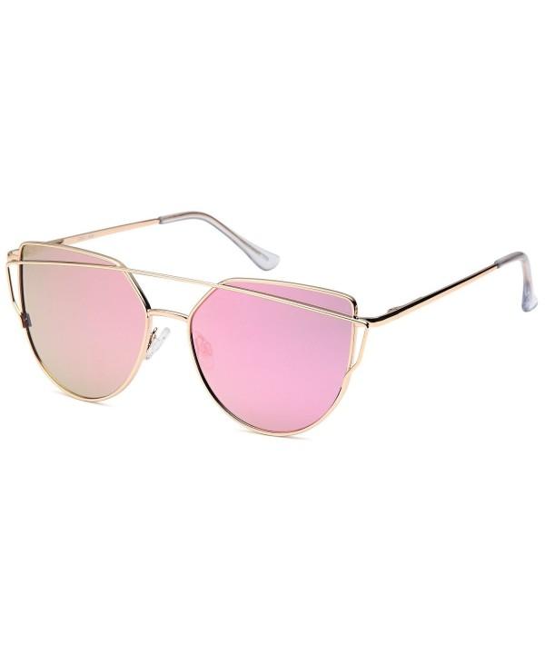QINKY Womens Aviator Sunglasses Mirror