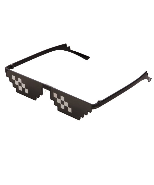 CENWOCON Sunglasses Pixelated Glasses Double Row Pixel