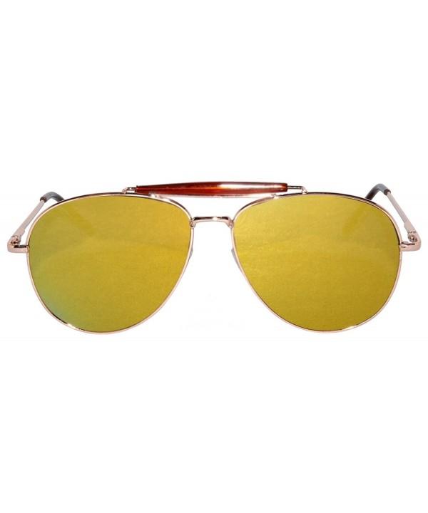 Mirror Reflective Aviator Sunglasses Metal