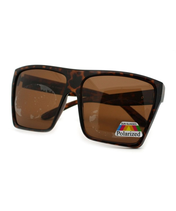 Tortoise Polarized Oversized Square Sunglasses