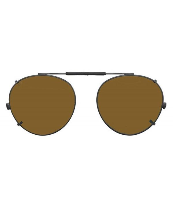 Visionaries Polarized Clip Sunglasses Round