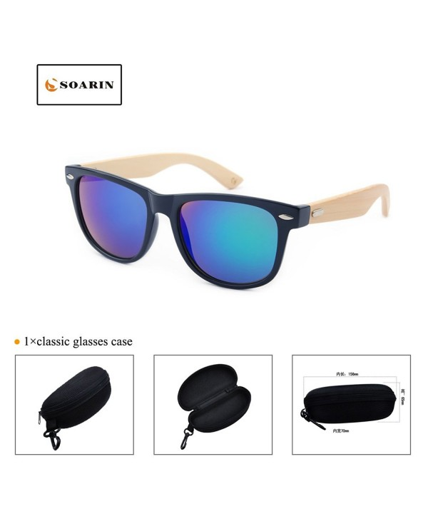 SOARIN Fashion Wooden Sunglasses Reflective