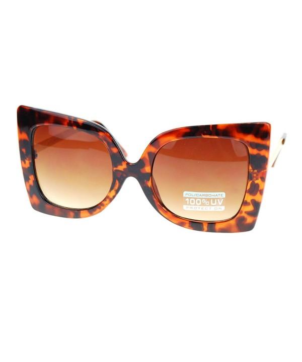 Designer Sunglasses Oversized Butterfly Tortoise