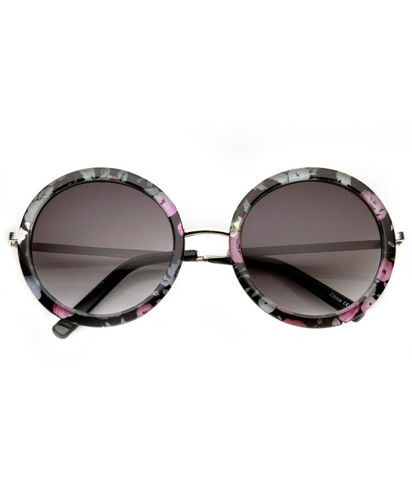 zeroUV Womens Oversized Sunglasses Silver Pink