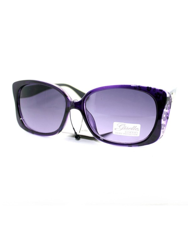 Giselle Womens Rectangular Plastic Sunglasses