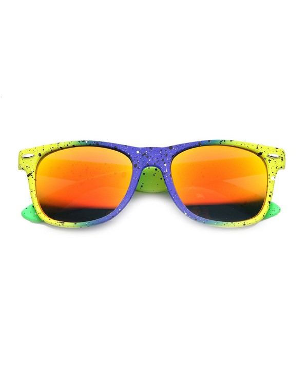 zeroUV Multi Color Splatter Sunglasses Blue Yellow