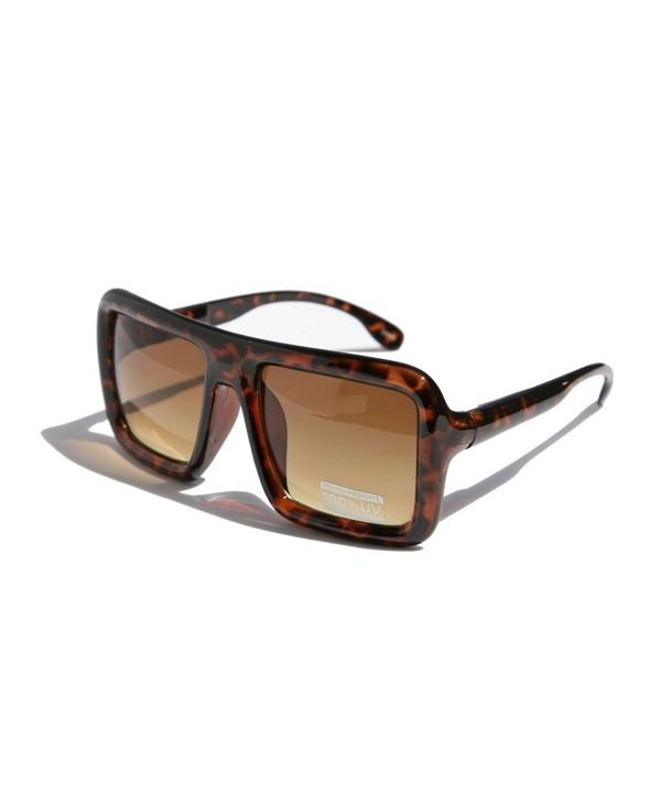 Oversized Square Hipster Rectangular Sunglasses