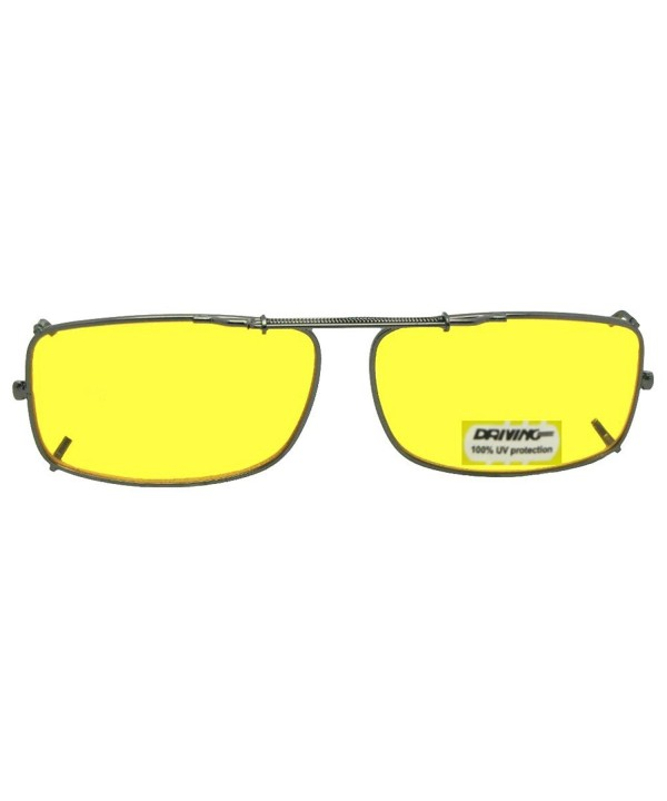Rectangle Polarized Yellow Sunglasses Pewter NON