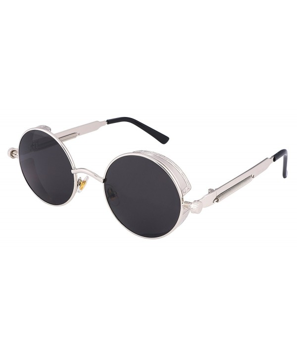 FEISEDY Gothic SteamPunk Sunglasses Mirrored
