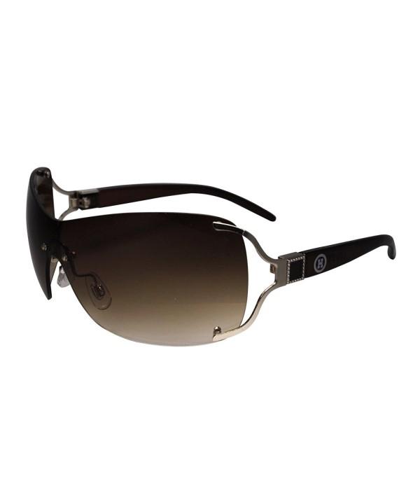 Square Detail Sheild Sunglasses Designer