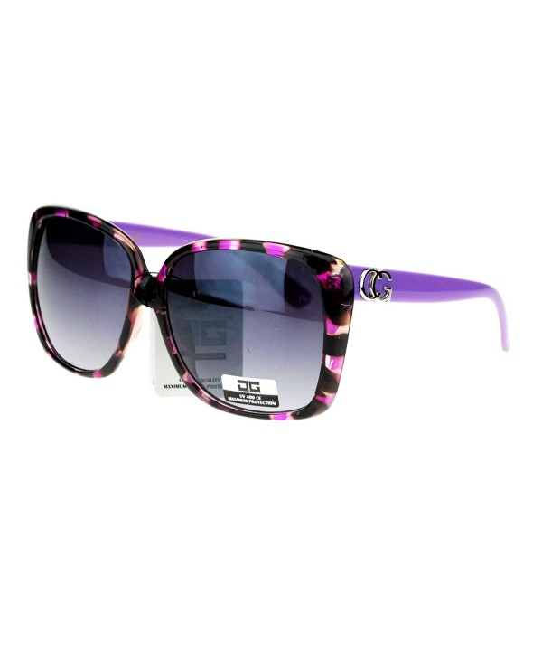 Designer Oversize Rectangular Butterfly Sunglasses