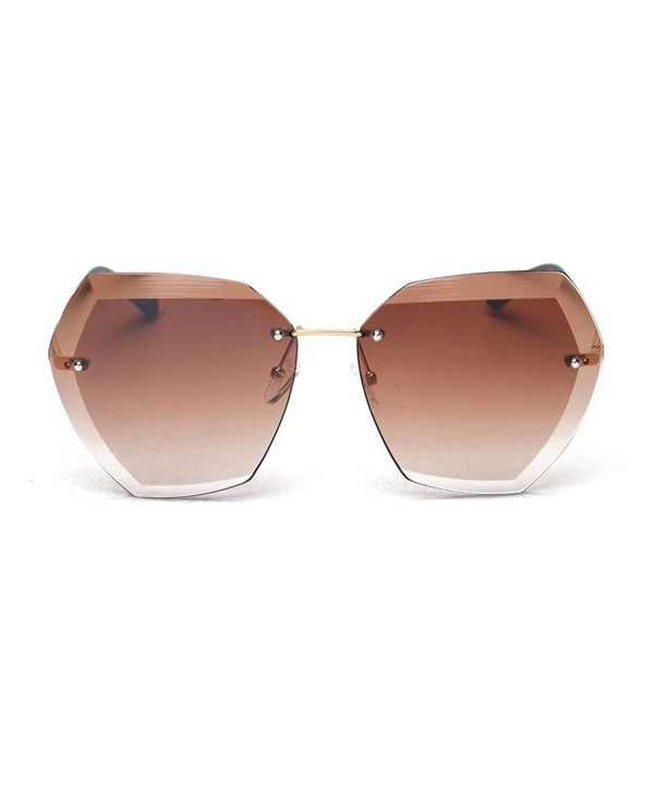 modesoda Irregularly Square Rimless Sunglasses