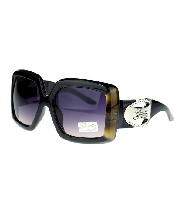Giselle Plastic Rectangular Emblem Sunglasses