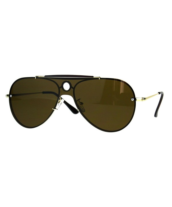 Luxury Shield Pilots Rimless Sunglasses
