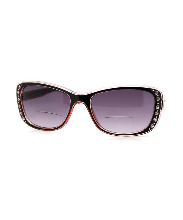 Womens Bifocal Sunglasses Rhinestone Rectangular