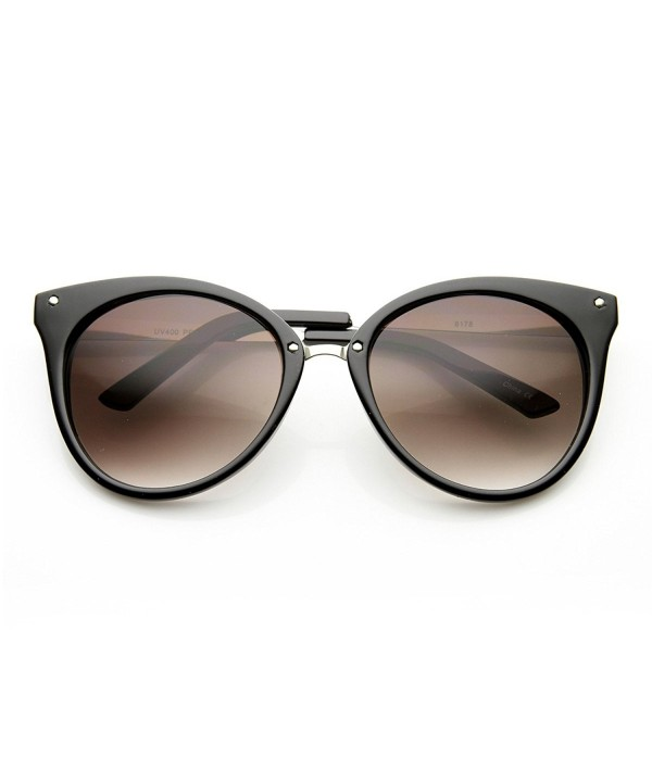 zeroUV Pointed Sunglasses Black Silver Lavender