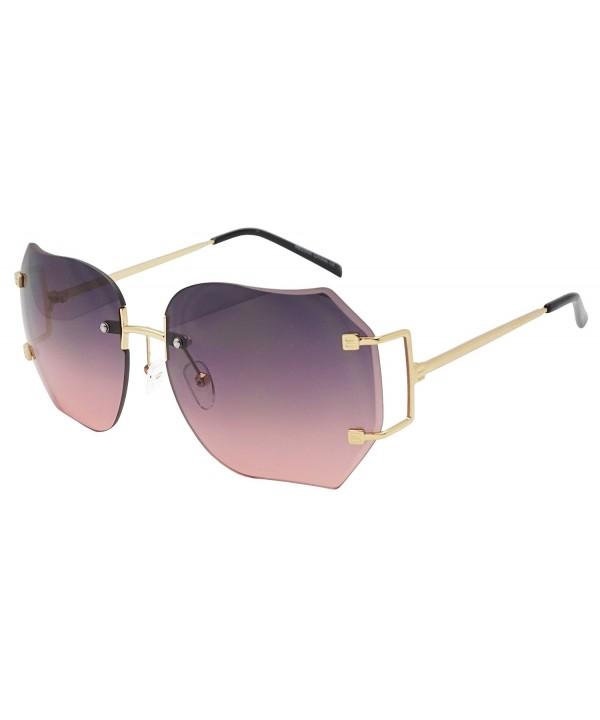Oversized Classic Transparent Sunglasses Frameless