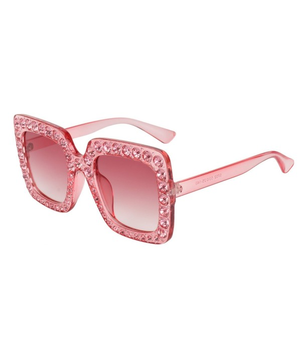 ROYAL GIRL Sunglasses Oversized Pink Gradient