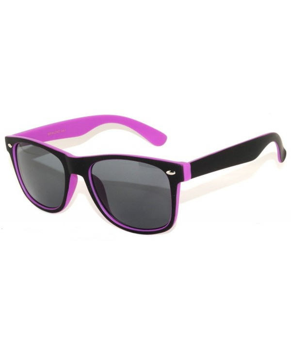 Classic Vintage Smoke Sunglasses Black Purple