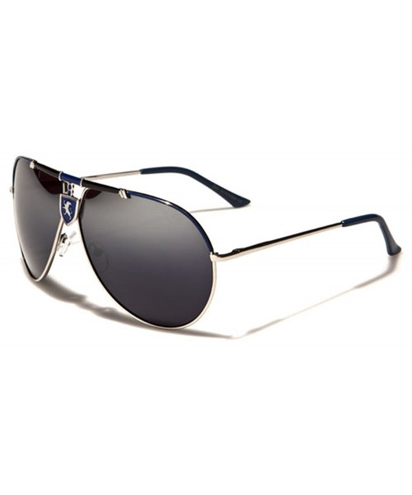 Khan Mirror Retro Aviator Sunglasses