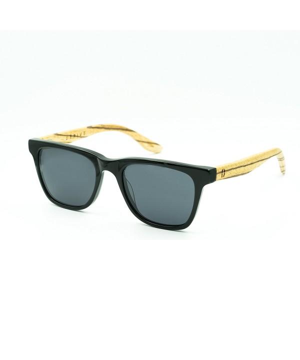 Bamboo zebrawood sunglasses wayfarer acetate