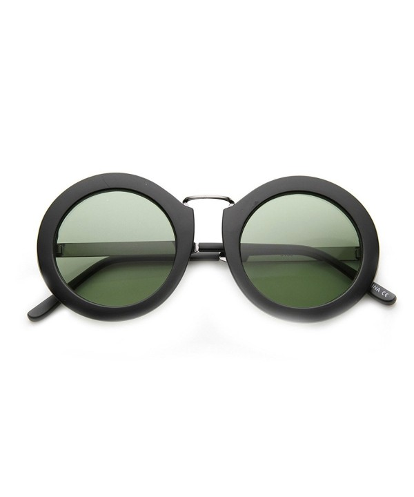 zeroUV Oversized Two Toned Sunglasses Matte Black Chrome