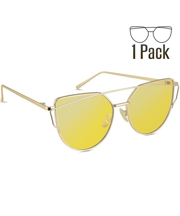Livh%C3%B2 Sunglasses Mirrored Lenses Yellow