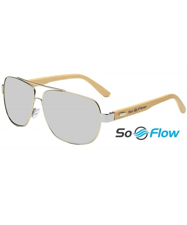 SoFlow Silver Aviator Sunglasses Women