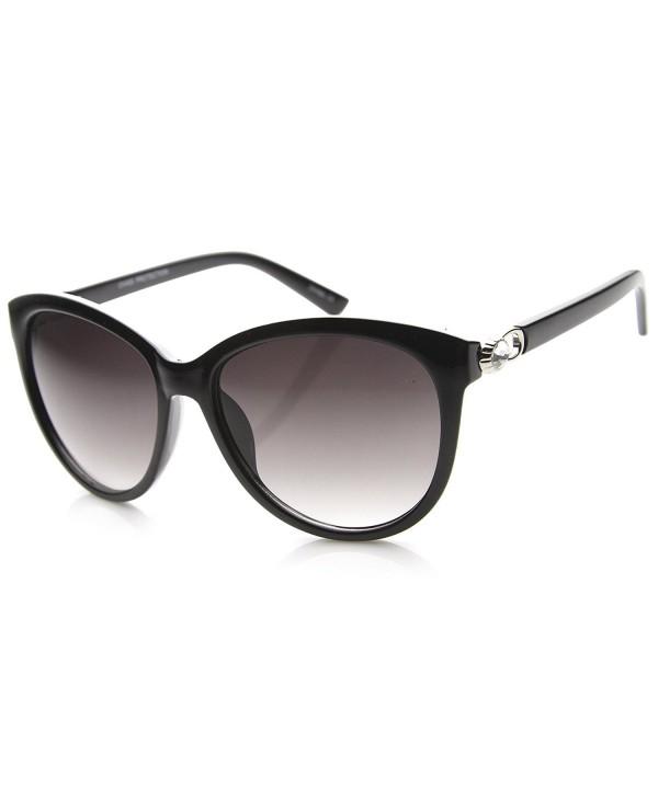 zeroUV Gradient Oversize Sunglasses Black Silver