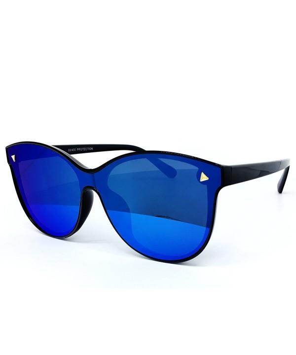 O2 Oversize Wraparound Semi Rimless Sunglasses