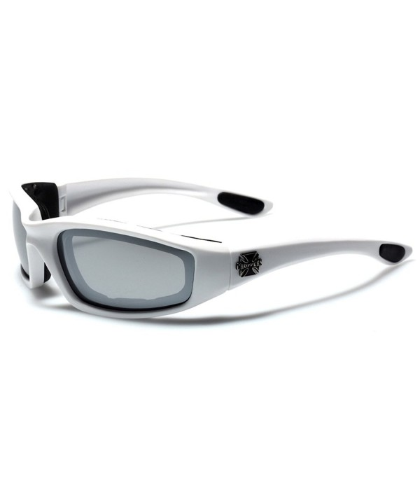 Choppers Padded Sport Sunglasses Silver