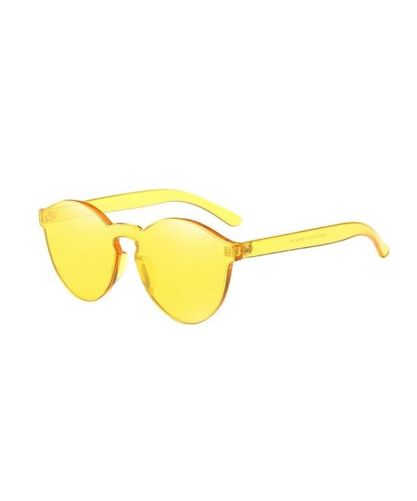 Yuxing Ultra Bold Transparent Colorful Sunglasses