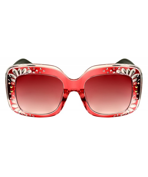 Edge I Wear Oversized Rhinestone Sunglasses EC3335R AP