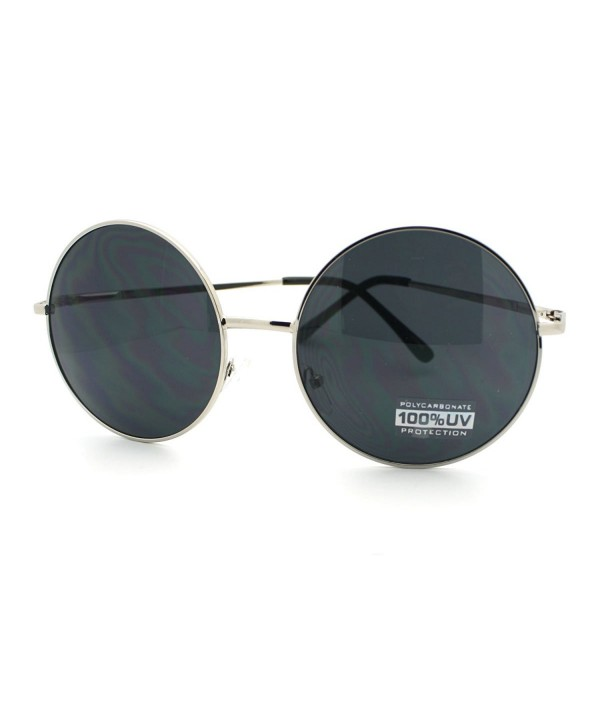 Super Oversize Sunglasses Circle Silver